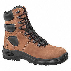 LowH Men's Work Boots, Composite Toe Type, Brown, Size 10W