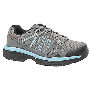 Athletic Shoes,8-1/2,D,Gray,Plain,PR