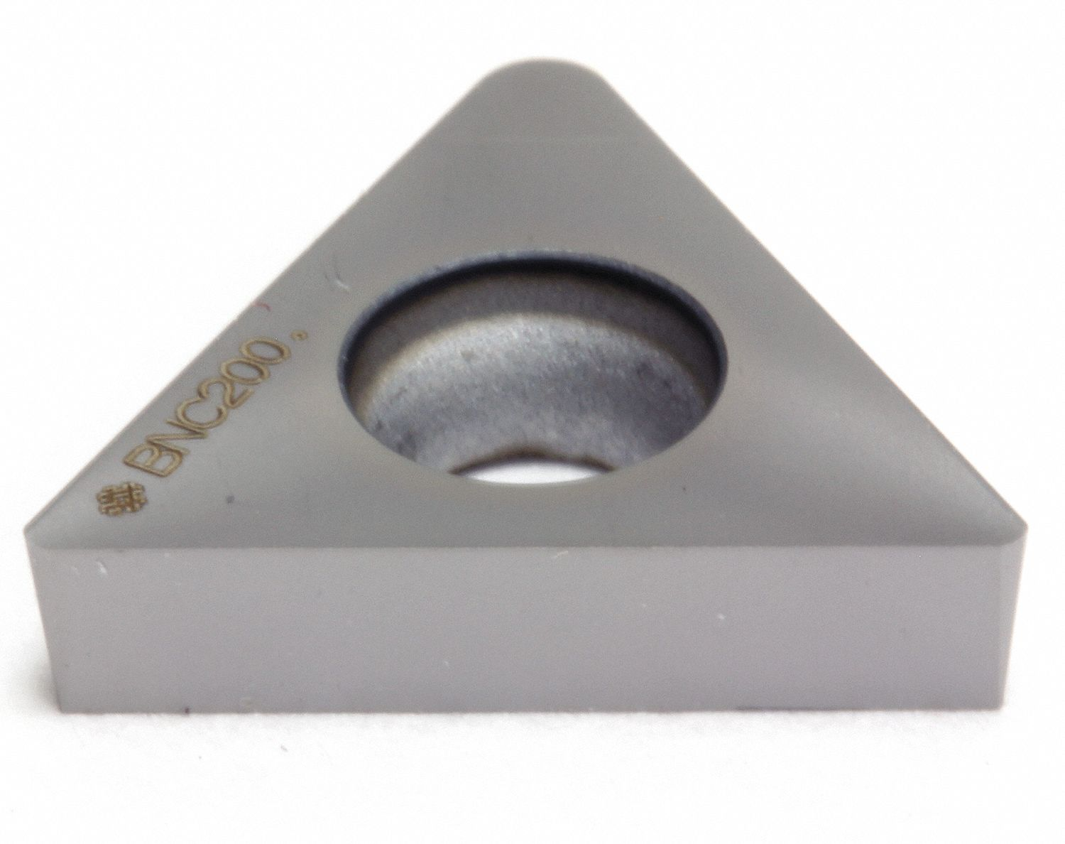 Triangle Turning Insert,  Inscribed Circle 1/4 in,  TiN