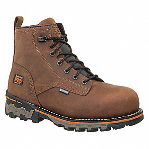 "6""H Men's Work Boots, Composite Toe Type, Brown, Size 7-1/2M"
