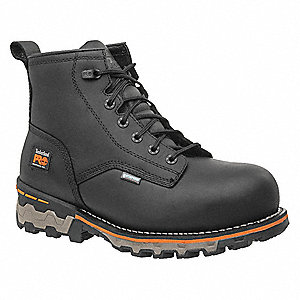 "6""H Men's Work Boots, Composite Toe Type, Black, Size 9M"
