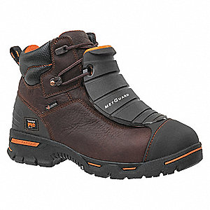 "6""H Men's Work Boots, Steel Toe Type, Brown, Size 15W"
