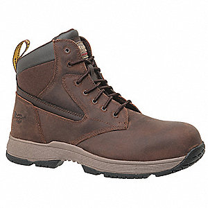 "6""H Men's Work Boots, Composite Toe Type, Light Brown, Size 9M"