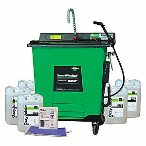 Mobile Combo Parts Washer Kit,25 gal.