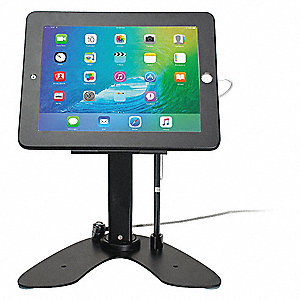 "Security Kiosk Stand,Black,10-1/2"" L"
