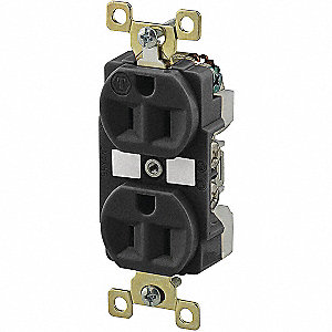 Receptacle,Black,15A,Weather Resistant