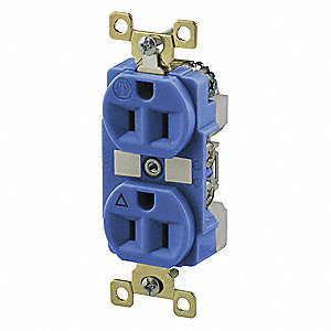 15A Heavy Use Industrial/Harsh Environments Isolated Ground Receptacle, Brown; Tamper Resistant: No