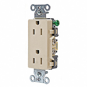 Receptacle,Almond,15A,Decorator Outlet