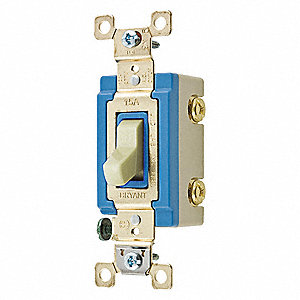 Wall Switch, Switch Type: 2-Pole, Switch Function: Maintained