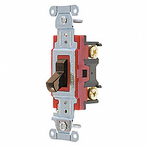 Wall Switch,20A,Ivory,2-Pole Type,Toggle