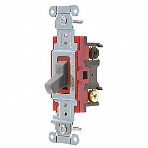 Wall Switch,20A,Gray,4-Way Type,Toggle