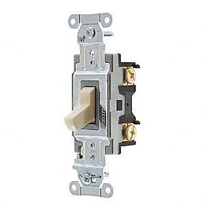 Wall Switch, Switch Type: 1-Pole, Switch Function: Maintained