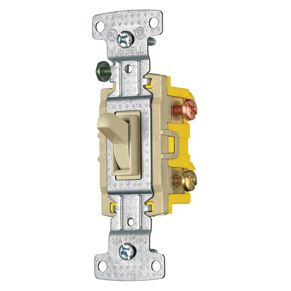 BRYANT Wall Switch, Switch Type: 3-Way, Switch Function: Maintained ...
