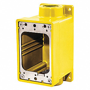 "Weatherproof Electrical Box,1"" Hub Size"