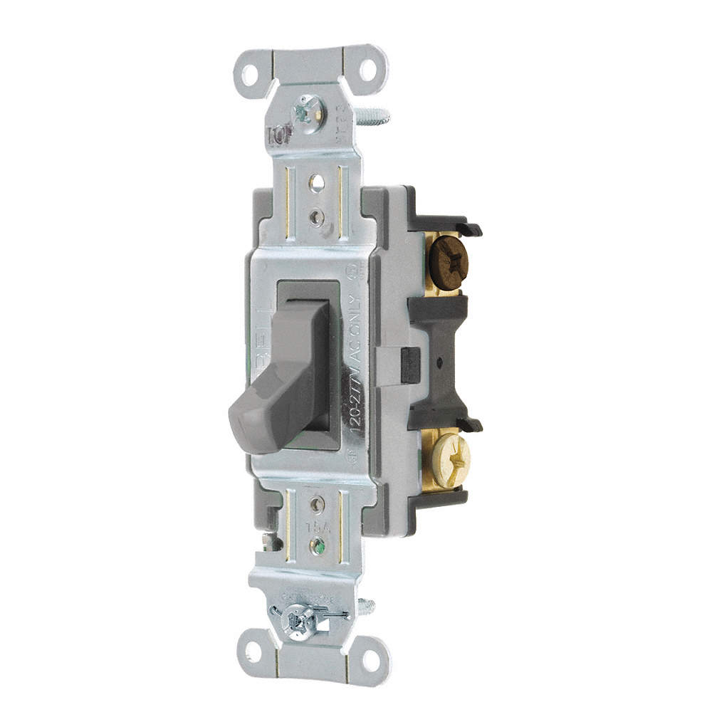 HUBBELL Wall Switch, Switch Type: 3-Way, Switch Function: Maintained ...