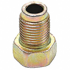 Nut,Bubble Flare,M10 x 1.0 Thread Sz,PK4