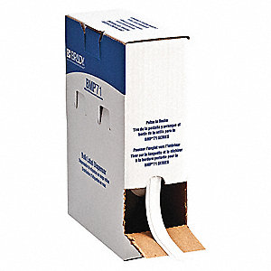 "White Polyester Label Tape Cartridge, Polyester Label Type, 50 ft. Length, 3/8"" Width"