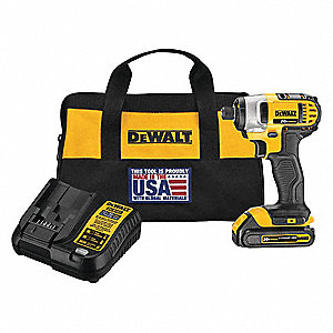 "1/4"" Cordless Impact Driver, 20.0 Voltage, 1400 In.-lb. Max. Torque, Battery Included"
