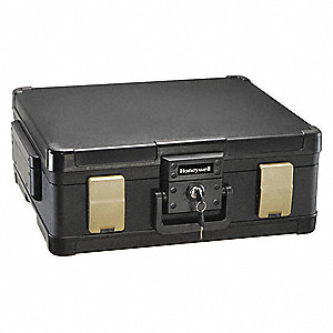 "20"" x 17-13/64"" x 7-19/64"" Fire Safe, Black; Holds Documents, Digital Media, Letter and A4 Size Docu"