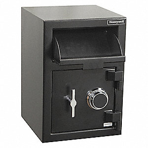 "14"" x 15-13/64"" x 20-13/64"" Security Safe, Black; Holds Documents, Records and Valuables"