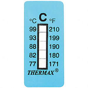 Non-Reversible Temp Indicator,Strip,PK10