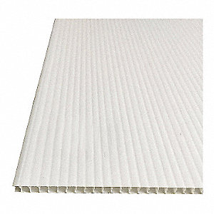 "Corrugated Sheet,48"" W,0.394"" Thick,PK10"