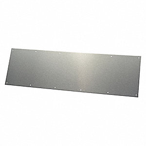 "Door Protection Plate,SS,8"" H x 34"" W"