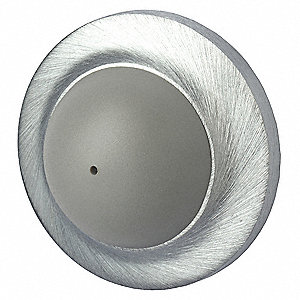 "Convex Door Stop with Bumper,Gray,1"" H"