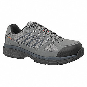 "3-1/2""H Men's Work Shoes, Alloy Toe Type, Gray/Black, Size 7D"