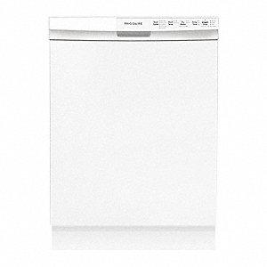 FRIGIDAIRE Undercounter Dishwasher, White, Width 24