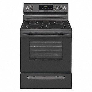 "Electric Oven Range, Black, 47""H x 29-7/8""W x 28-1/2"" Depth"