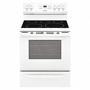 "Electric Oven Range, White, 47""H x 29-7/8""W x 28-1/2"" Depth"