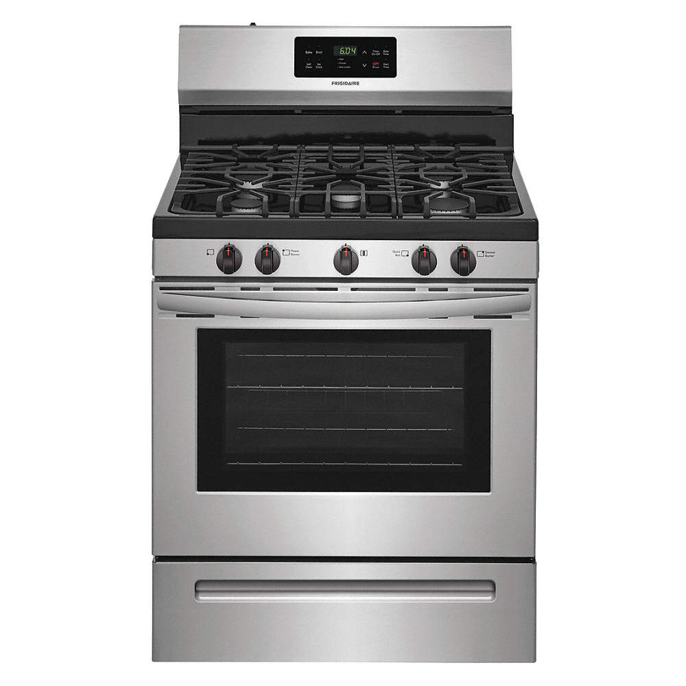 FRIGIDAIRE Natural Gas Oven Range, Stainless Steel, 47\