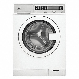 "Front Load Washer,White,25"" D,33-1/2"" H"