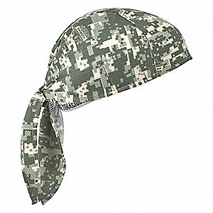 Evaporative Cooling Triangle Hat, Acrylic Polymer, Camouflage, Universal,1 EA