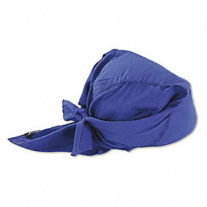 Evaporative Cooling Triangle Hat, Acrylic Polymer, Blue, Universal,1 EA