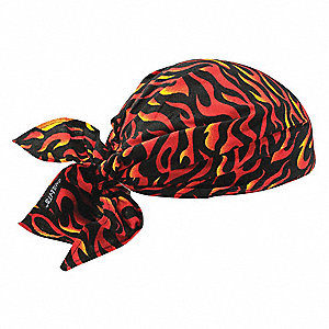 Evaporative Cooling Triangle Hat, Acrylic Polymer, Flames, Universal,1 EA
