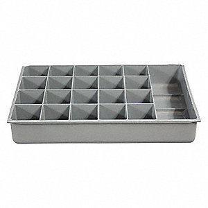 Compartment Box,21 Compartments,40 lb.