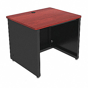 "Enclosed Desk, CD Series, 36"" W, Cherry Top"
