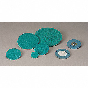 "1"" Coated Quick Change Disc, TS/TSM Turn-On/Off Type 2, 120, Medium, Zirconia Alumina, 1 EA"
