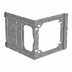 "Steel Mounting Bracket, For Use With 4"" Sq. and 4-11/16"" Outlet Boxes to 2-1/2"", 3-5/8"", 5-1/2"" or 6"