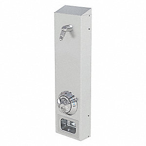 "Shower System,3-1/4"" D,Wall Mount"