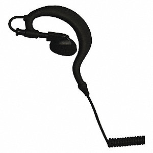 Ear Loop Earpiece,Coiled Cord,3.5mm Plug