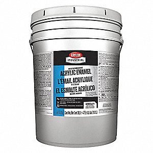 White Paint, Semi-Gloss Finish, 140 to 225 sq. ft./gal. Coverage, Size: 5 gal.