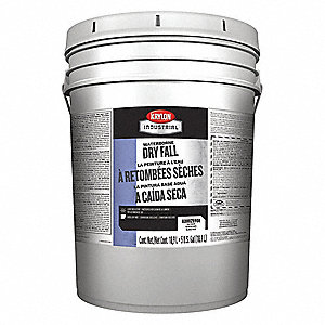 White Dry Fall Paint, Flat Finish, 135 to 225 sq. ft./gal. Coverage, Size: 5 gal.