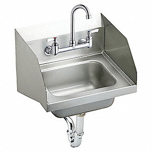 Etonnant ELKAY Stainless Steel Hand Sink, With Faucet, Wall Mounting Type, Stainless  Steel   52JY54|CHS1716LRSC   Grainger