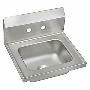 Gentil ELKAY Stainless Steel Hand Sink, Without Faucet, Wall Mounting Type, Stainless  Steel   52JY55|CHSB17162   Grainger