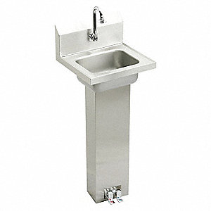ELKAY Stainless Steel Hand Sink, With Faucet, Wall Mounting Type, Stainless  Steel   52JY58|CHSP1716C   Grainger