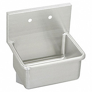 Elkay Wall Mount Utility Sink 1 Bowl Stainless Steel 25 Quot L X 19 1 2 Quot W X 12 Quot H