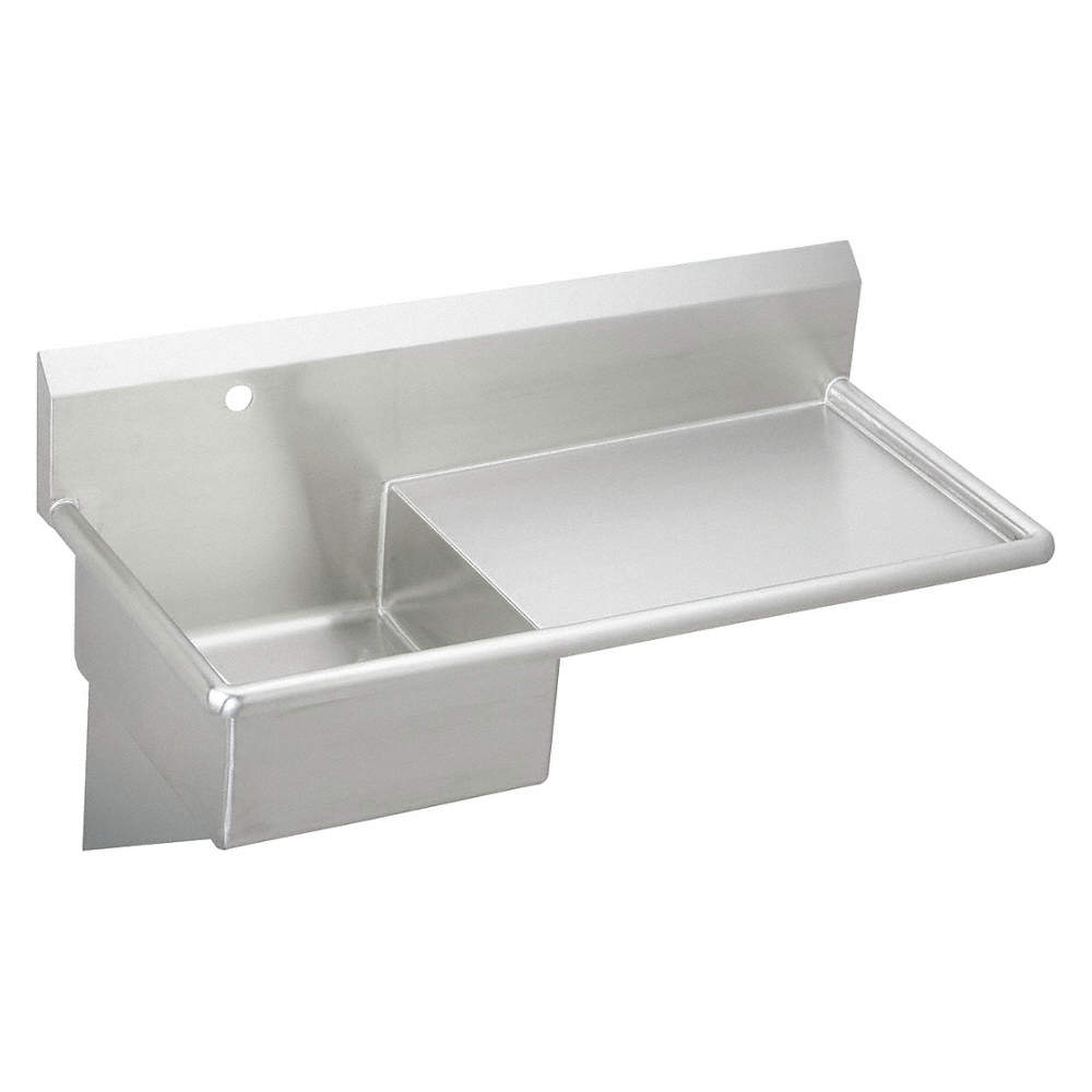 Wall Hung Utility Sink.Wall Mount Utility Sink 1 Bowl Stainless Steel 49 1 2 L X 24 W X 10 H